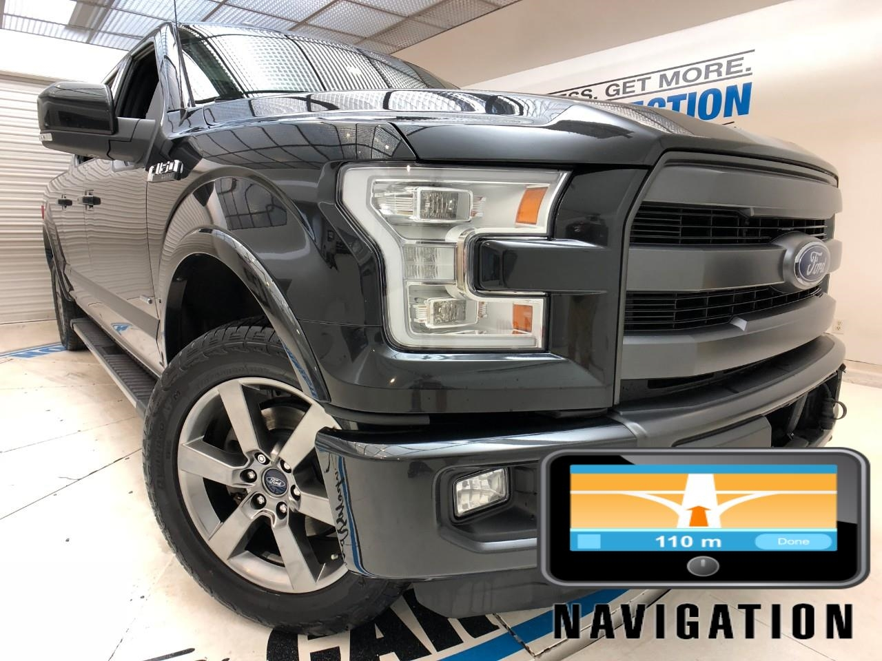 Pre-Owned 2015 Ford F-150 4WD CREW FX4 LARIAT, LOADED, NAVIGATION, PANORAMIC ROOF, HEATED/COOLED SEATS, ECOBOOST!!