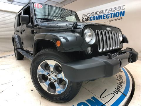 Pre-Owned 2018 Jeep Wrangler JK Unlimited SAHARA 4X4. NAVIGATION!!